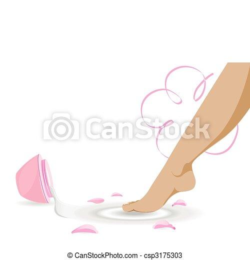 Woman leg - csp3175303