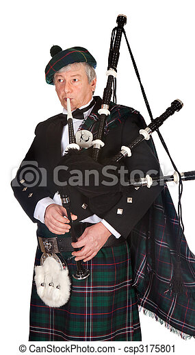 Formal bagpiper - csp3175801
