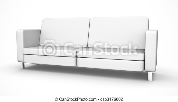 White sofa - csp3176002