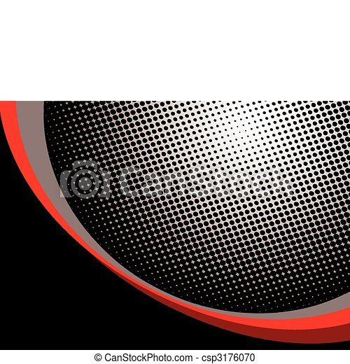 red halftone background - csp3176070