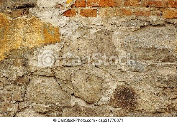 bilder von gebäude, beschädigt, altes , ziegelsteine, pflaster, Gartenarbeit ideen