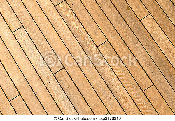 Diagonal Wooden Ship Deck Background - csp3178310