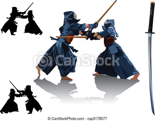 Kendo fight - csp3178577