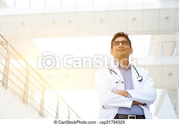 Asian medical doctor portrait