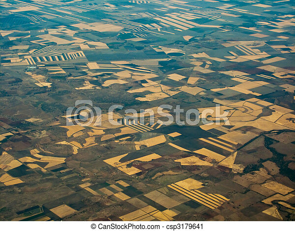 Fertile Fields in Queensland AU Viewed From Above - csp3179641