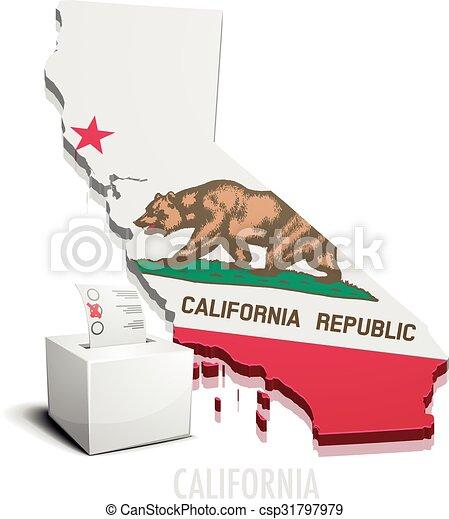 Ballotbox Map California - csp31797979