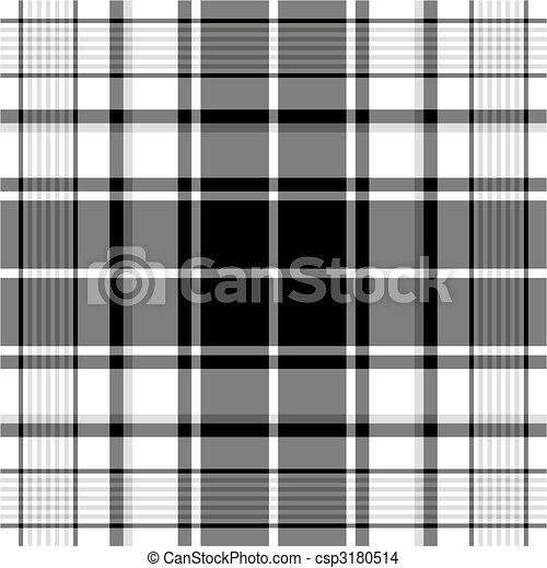 Seamless black-white and grey pattern - csp3180514