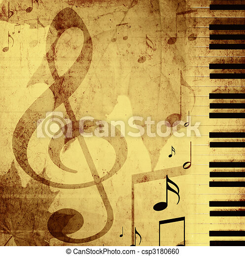Background with musical symbols  - csp3180660