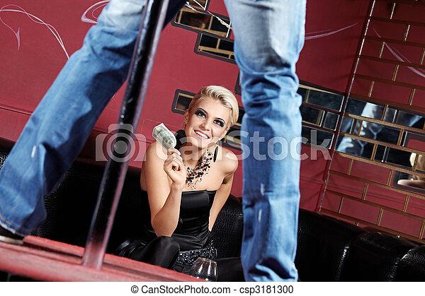 Striptease for girl - csp3181300