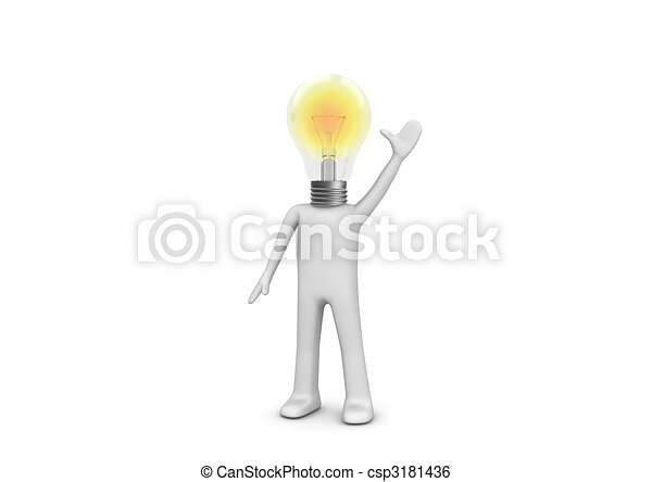I have an idea - lampy man - csp3181436