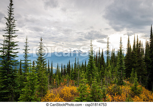 Mountain landscape in Canada - csp31814753