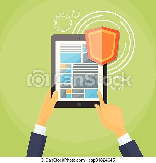 Data Privacy Clip Art
