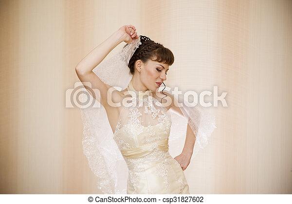 Beautiful young bride - csp31827602
