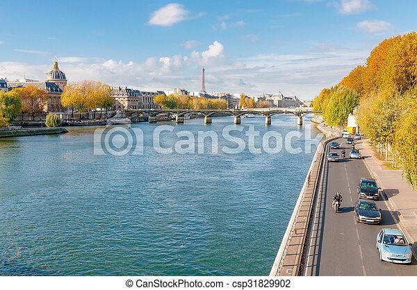 The Seine in Paris - csp31829902