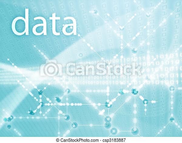 Digits data illustration - csp3183887