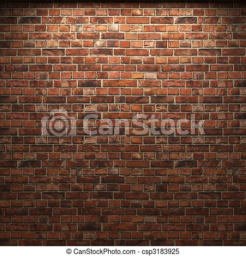 illuminated brick wall  - csp3183925