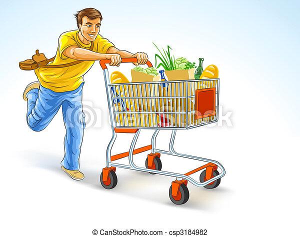 Clip art de lleno compras carrito funcionamiento - Carrito dela compra ...