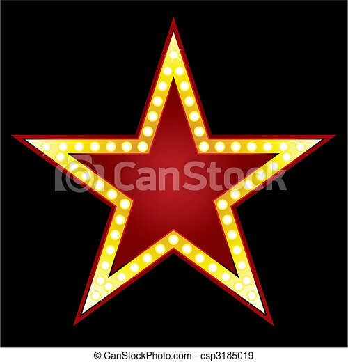 eps vectors of big star   symbol of big red star on black