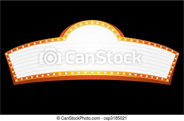 Entertainment sign - csp3185021
