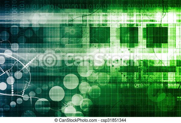 Futuristic Network - csp31851344