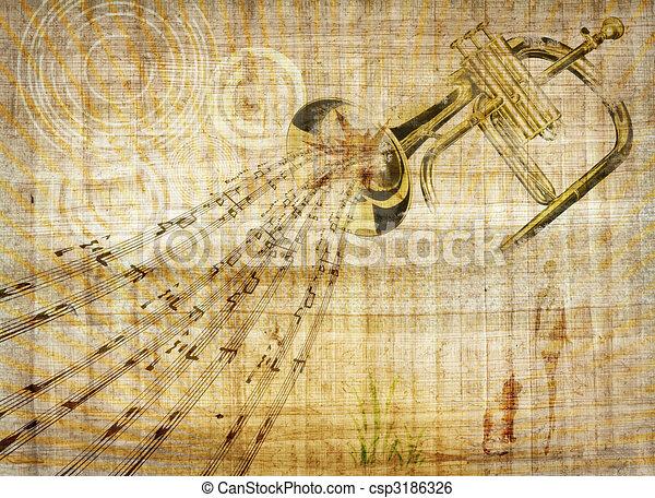 Trumpet music - csp3186326