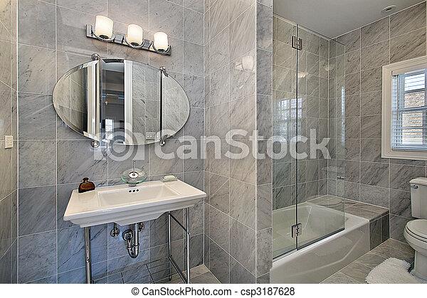 Immagini di maestro, bagno, con, grigio, piastrella   maestro ...