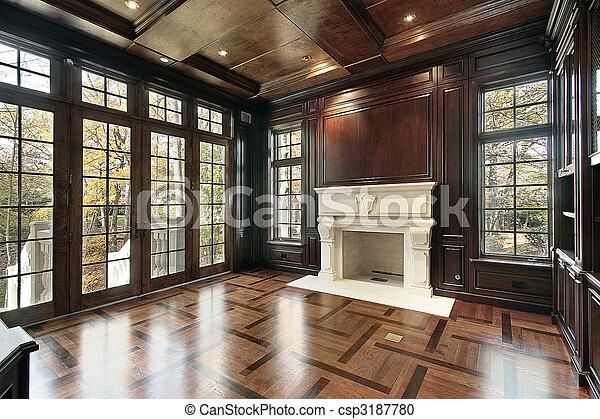 Library with floor design - csp3187780