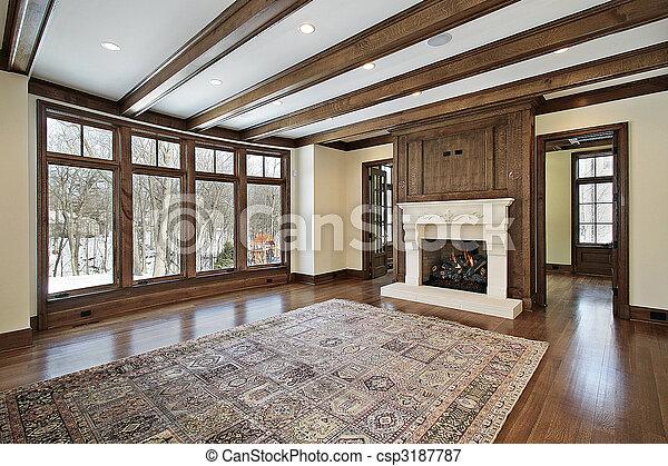 Plaatje van balken plafond hout kamer gezin gezin kamer in csp3187787 zoek naar - Kamer met balken ...