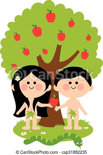 Adam eve Clipart and Stock Illustrations. 191 Adam eve vector EPS ...