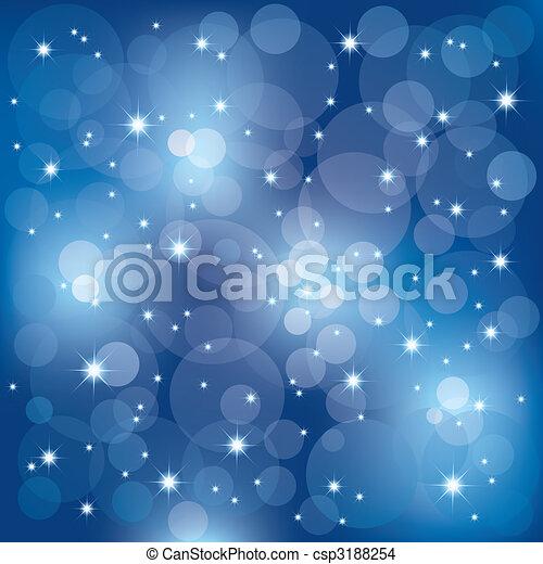 Abstract sparkling celebration lights background - csp3188254