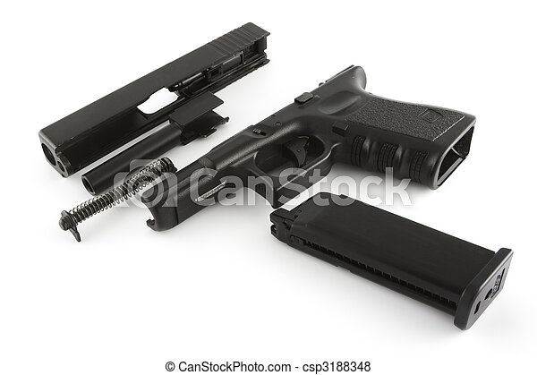 Disassembled firearm - csp3188348