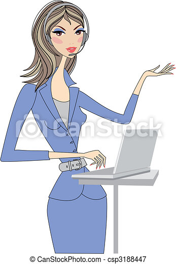 business woman, vector - csp3188447