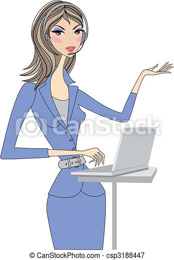business woman, vector - csp3188447