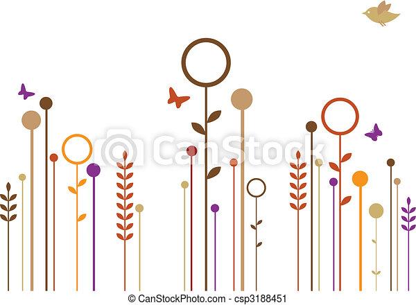 simple flowers, vector - csp3188451