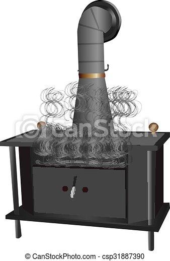 Wood Burning Stove - csp31887390