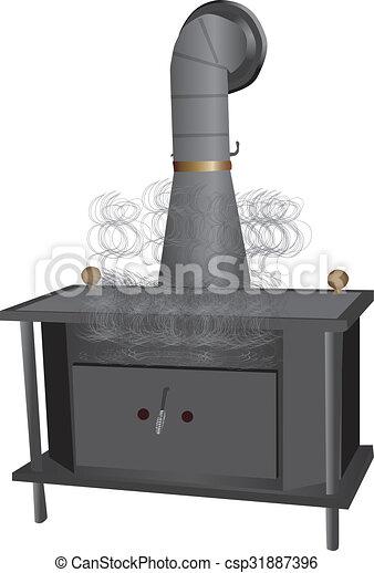 Wood Burning Stove - csp31887396