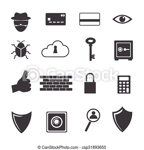 Big Data icon, Computer criminal - csp31893650