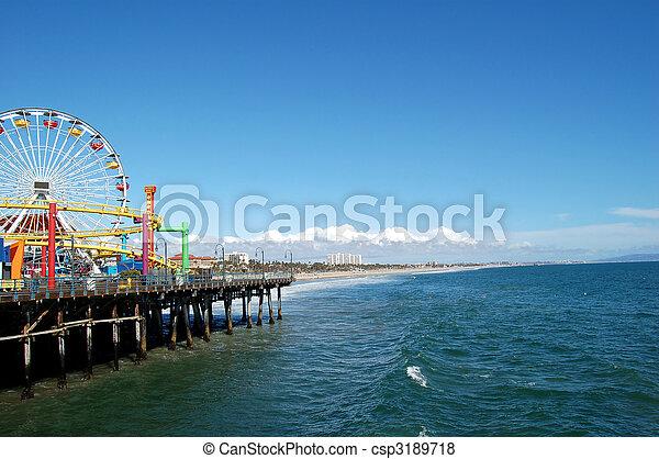 santa Monica pier - csp3189718