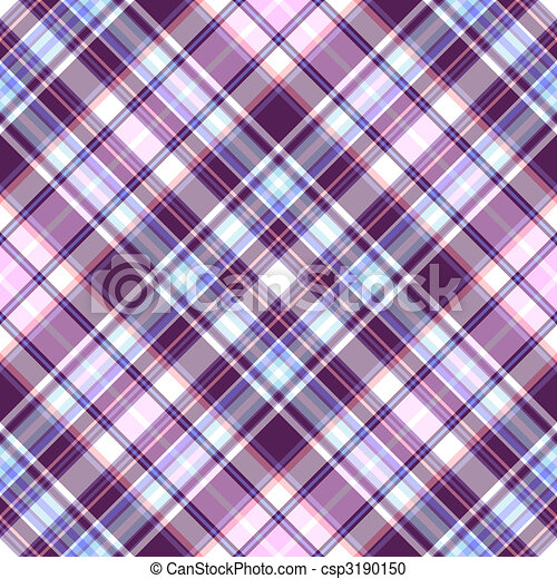Gentle tartan violet-blue diagonal repeating pattern - csp3190150