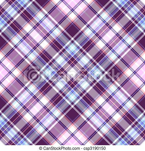 Gentle tartan violet-blue diagonal repeating pattern - csp3190150