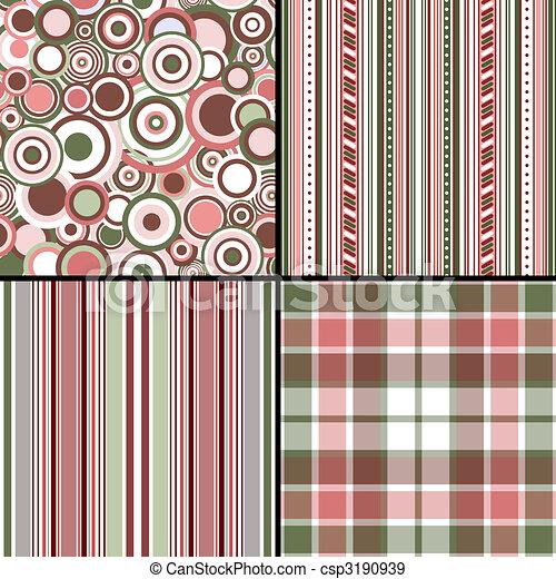 Set pastel seamless patterns (vector, EPS 10) - csp3190939