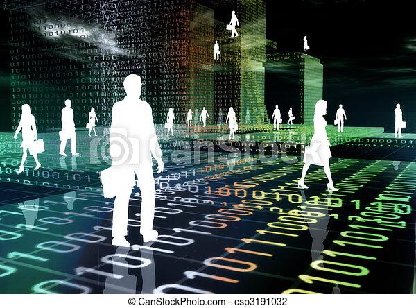 Virtual Business - csp3191032