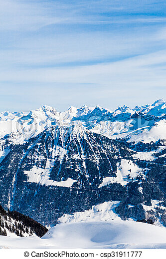 Snow Mountain. Alps Alpine Landscape of Mountain - csp31911777