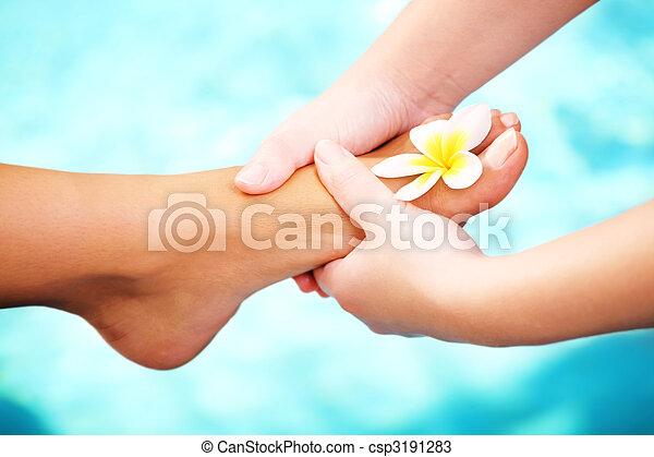 Exotic foot massage - csp3191283