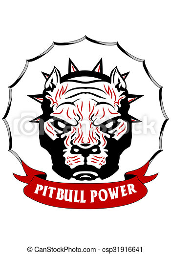 Dessin de t te pitbull illustration de a tribal - Dessin de pitbull ...