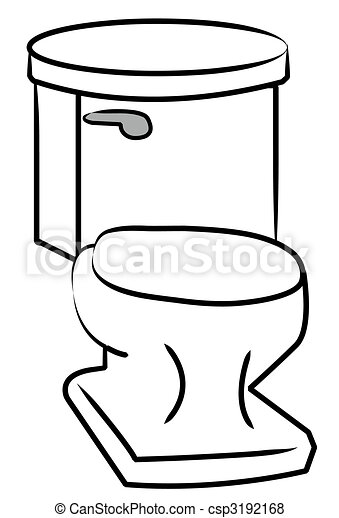 white toilet with silver flush handle  - csp3192168