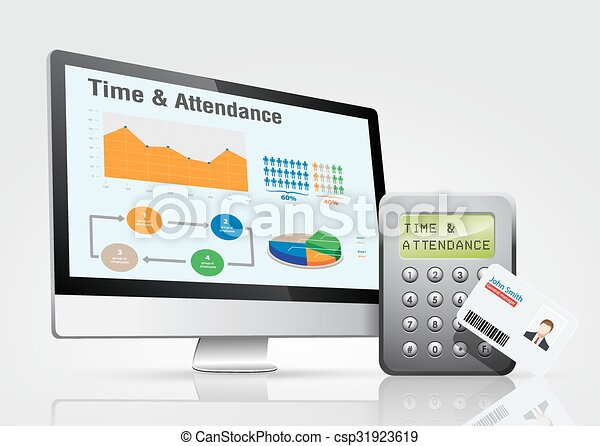 Vector Clip Art of Access - time & attendance - Access control and ...