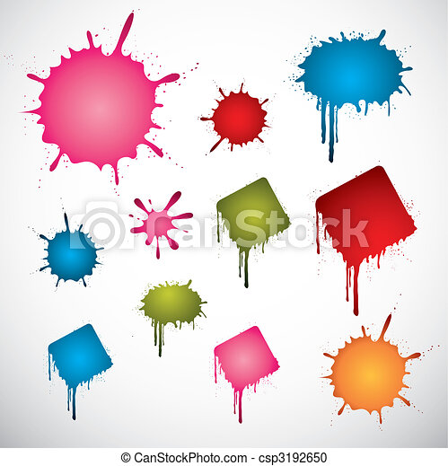 Colored ink spots - csp3192650