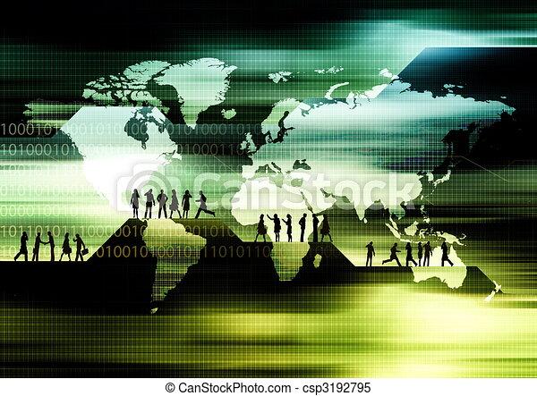 Worldwide E-business  - csp3192795