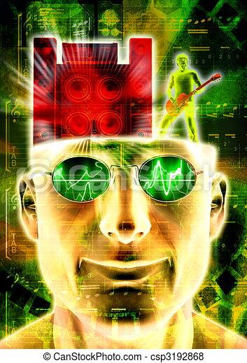The music inside my head - csp3192868